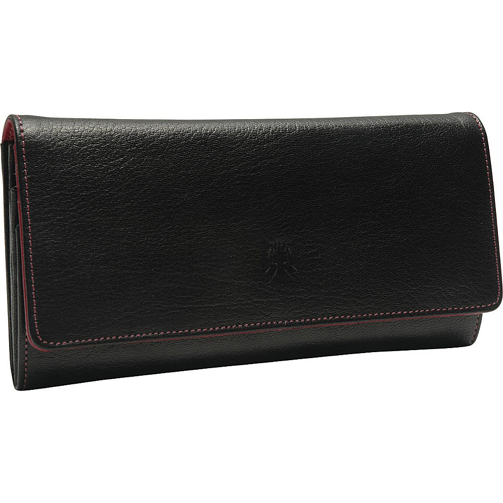TUSK LTD Siam Accordion Clutch Wallet Black Raspberry TUSK LTD Women s Wallets