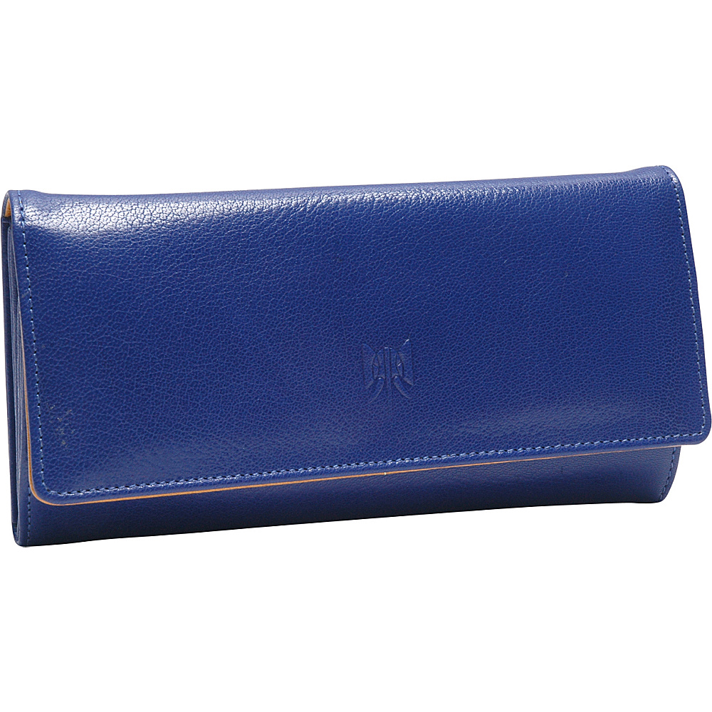 TUSK LTD Siam Accordion Clutch Wallet Indigo Yellow TUSK LTD Women s Wallets