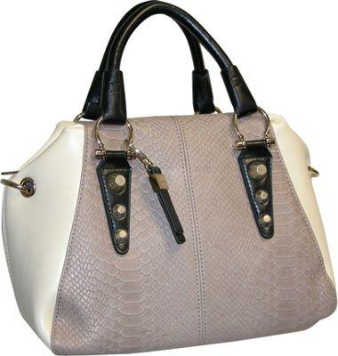 Buxton Hannah Bowler Satchel Taupe - Buxton Leather Handbags
