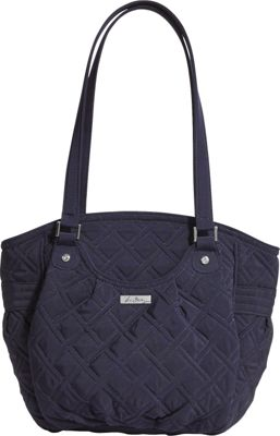 Vera Bradley Glenna Shoulder Bag - Solids Classic Navy - Vera Bradley Fabric Handbags