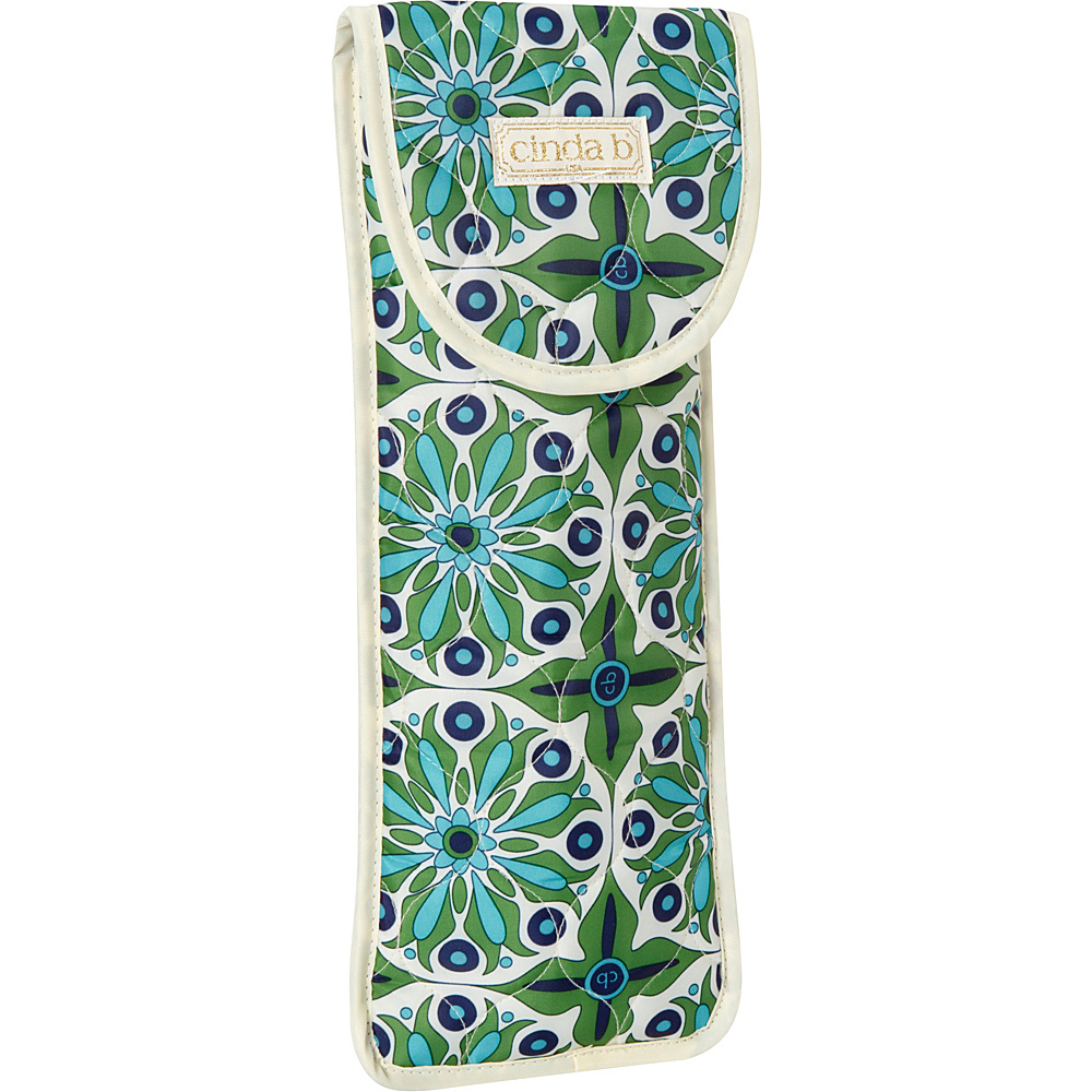 cinda b Flat Iron Curling Iron Cover Verde Bonita cinda b Travel Health Beauty