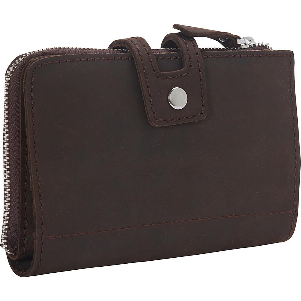 Vagabond Traveler Clutch Passport Card Cash Zipper Holder Dark Brown - Vagabond Traveler Travel Wallets - Travel Accessories, Travel Wallets