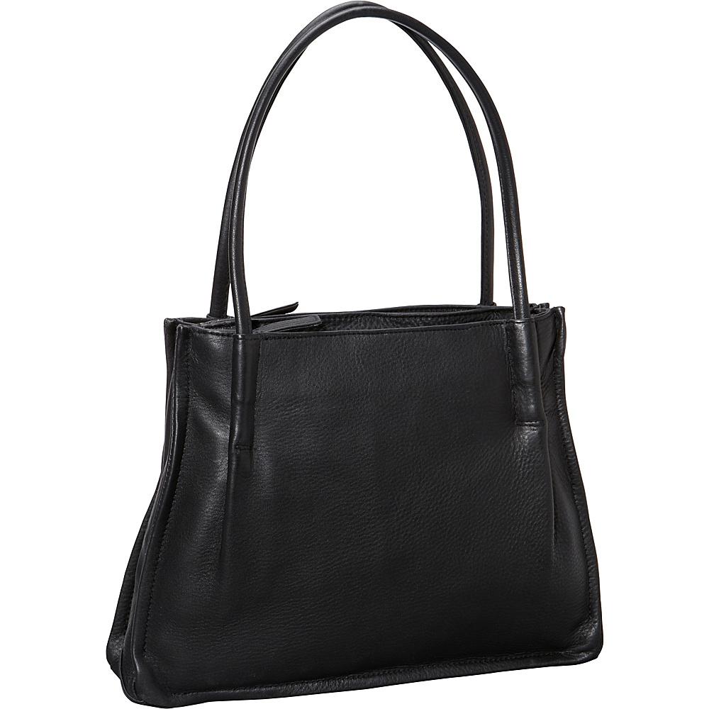 Derek Alexander Two Inset Top Zips Black - Derek Alexander Leather Handbags - Handbags, Leather Handbags
