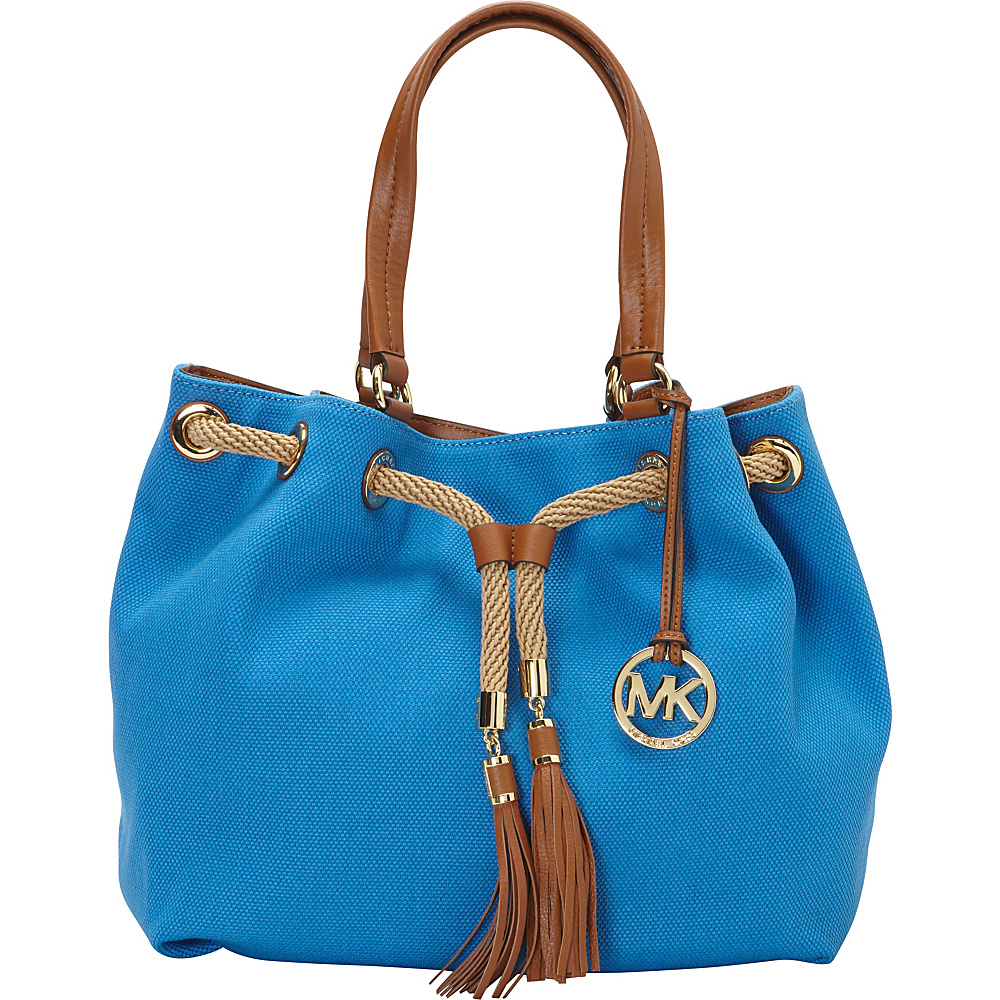 8811f5ed117f ... UPC 888235842011 product image for MICHAEL Michael Kors Marina Large  Gathered Tote Handbag Heritage Blue -