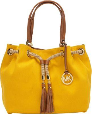 MICHAEL Michael Kors Marina Large Gathered Tote Handbag Sun - MICHAEL Michael Kors Designer Handbags