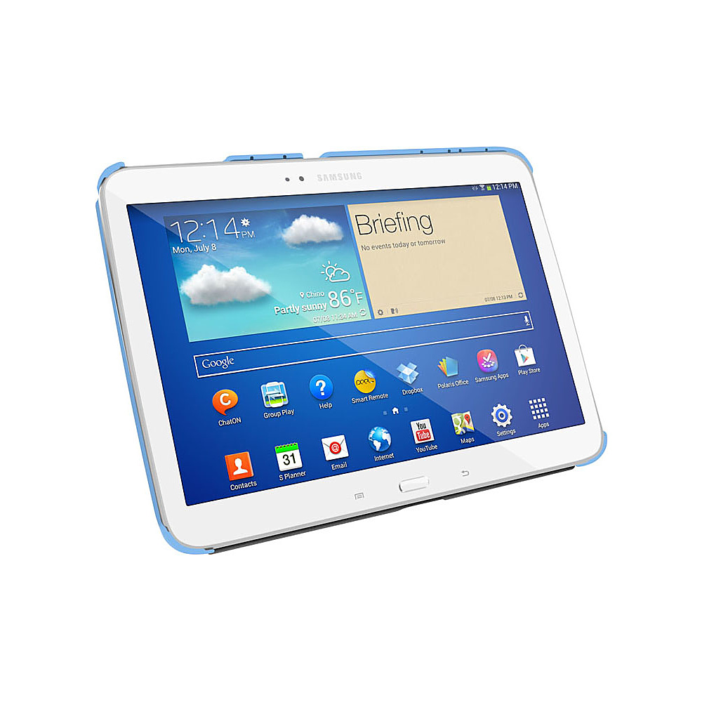 rooCASE Samsung Galaxy Tab 3 10.1 GT-P5210: SlimShell Flip Case Blue - rooCASE Electronic Cases