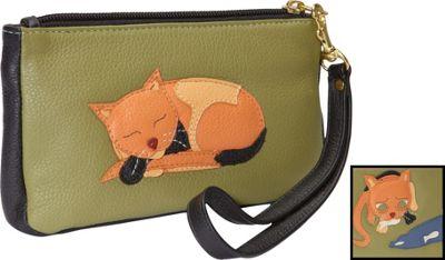 J. P. Ourse & Cie. Naughty Critter Wristlet Kiwi SZ C - J. P. Ourse & Cie. Leather Handbags