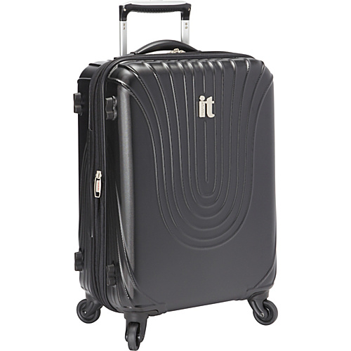 IT Luggage Andorra 22 4 Wheeled Carry On CLOSEOUT Black - IT Luggage Small Rolling Luggage