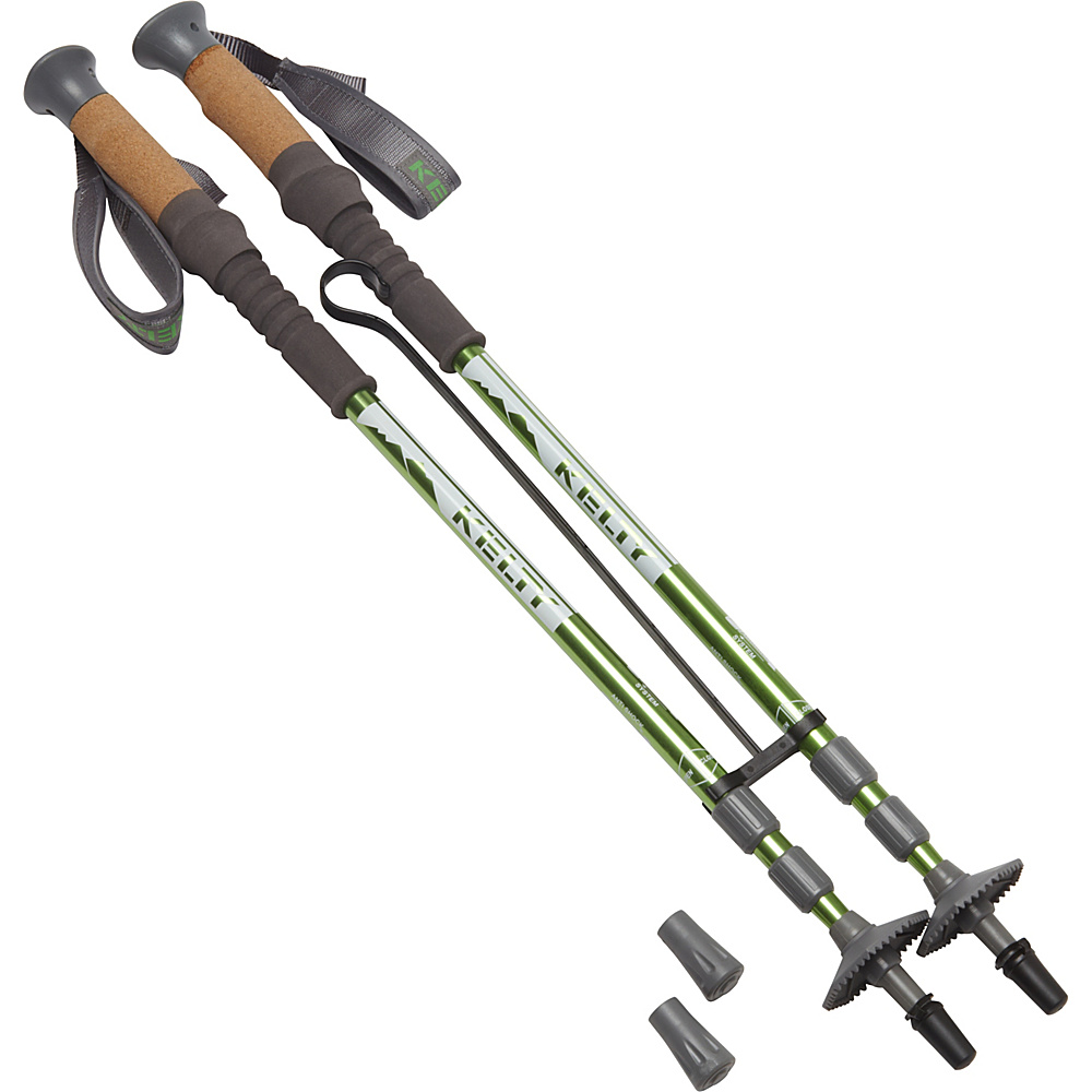 Kelty Range 2.0 Pair Trekking Poles Ano Green Kelty Outdoor Accessories