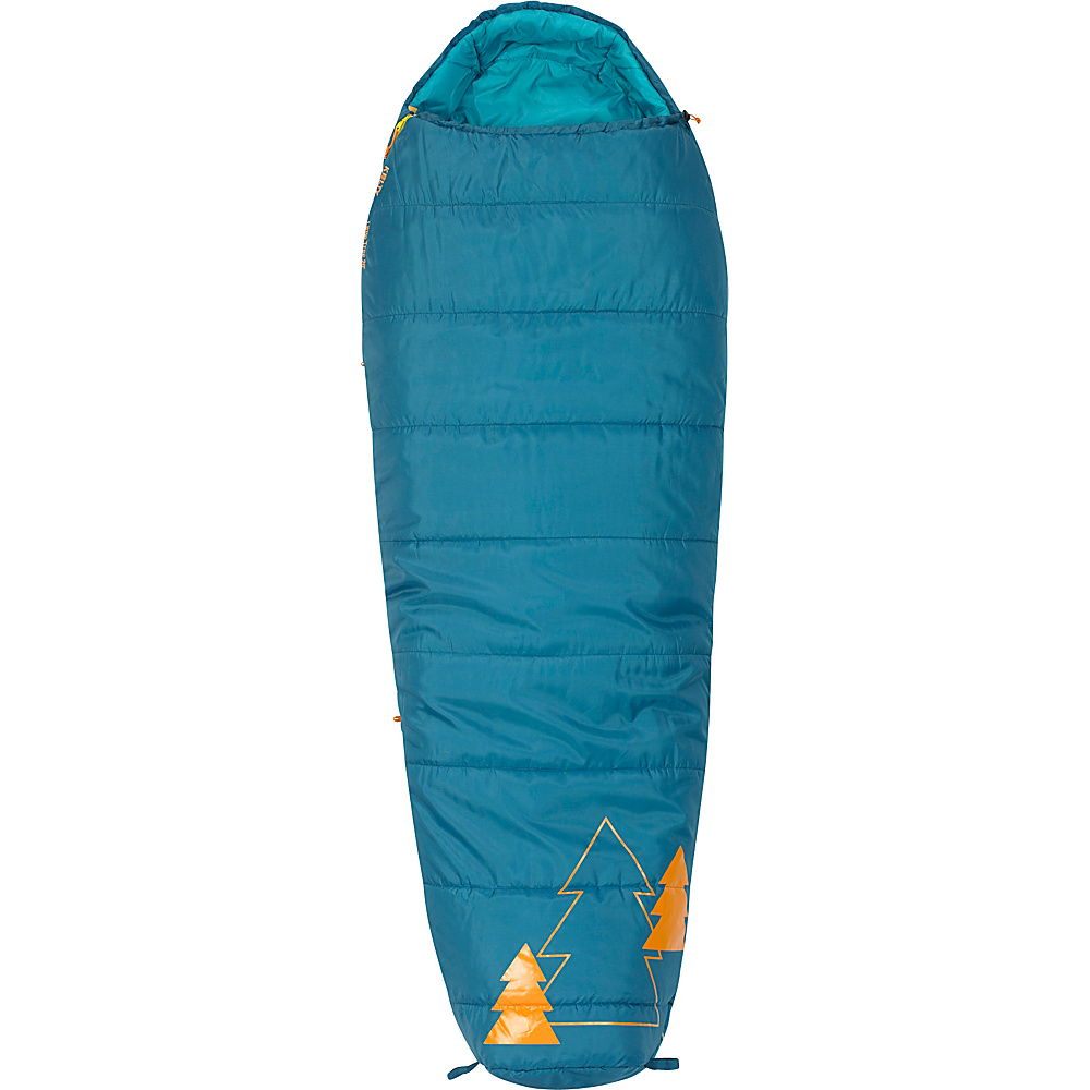 Kelty Little Tree 20 Degree Sleeping Bag Short Right Hand Ocean Kelty Outdoor Accessories