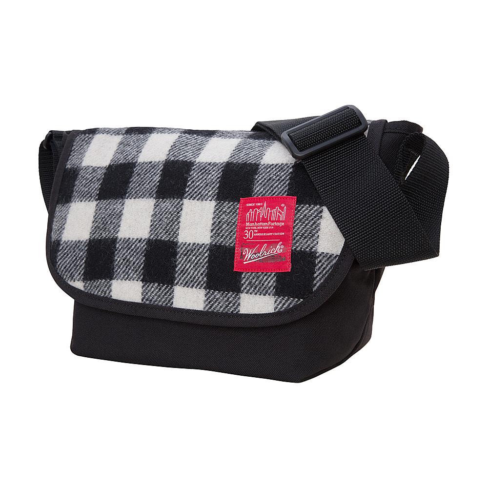 Manhattan Portage X Woolrich Messenger Jr. Buffalo Check White/Black - Manhattan Portage Messenger Bags - Work Bags & Briefcases, Messenger Bags