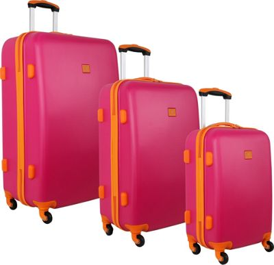 Image of Anne Klein Luggage Fast Lane 3 Piece Luggage Set Pink/Orange - Anne Klein Luggage Luggage Sets
