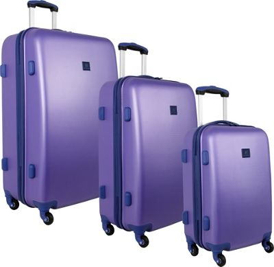 Image of Anne Klein Luggage Fast Lane 3 Piece Luggage Set Aqua/Violet - Anne Klein Luggage Luggage Sets