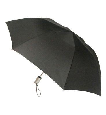London Fog Umbrellas Auto Open Umbrella Black - London Fog Umbrellas Umbrellas and Rain Gear