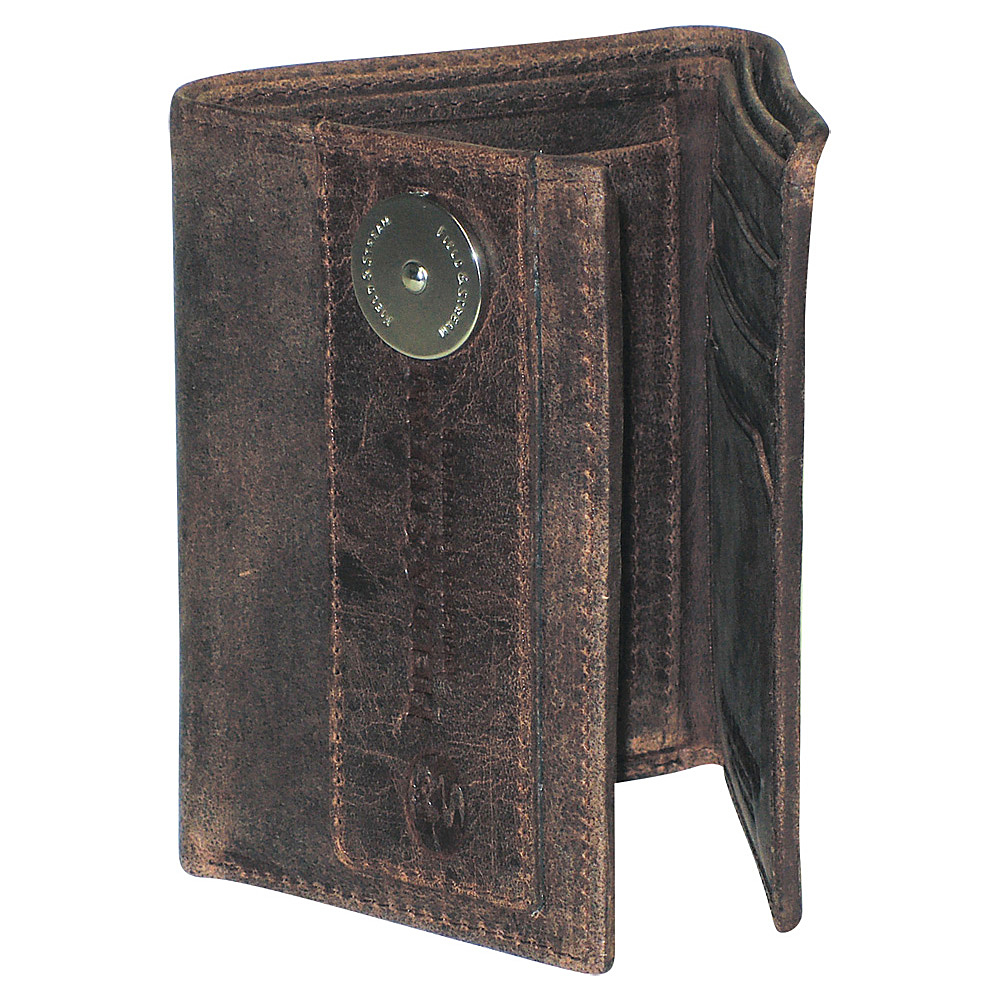 Field and Stream Three-Fold Wallet - RFID Blocking Brown - Field and Stream Mens Wallets