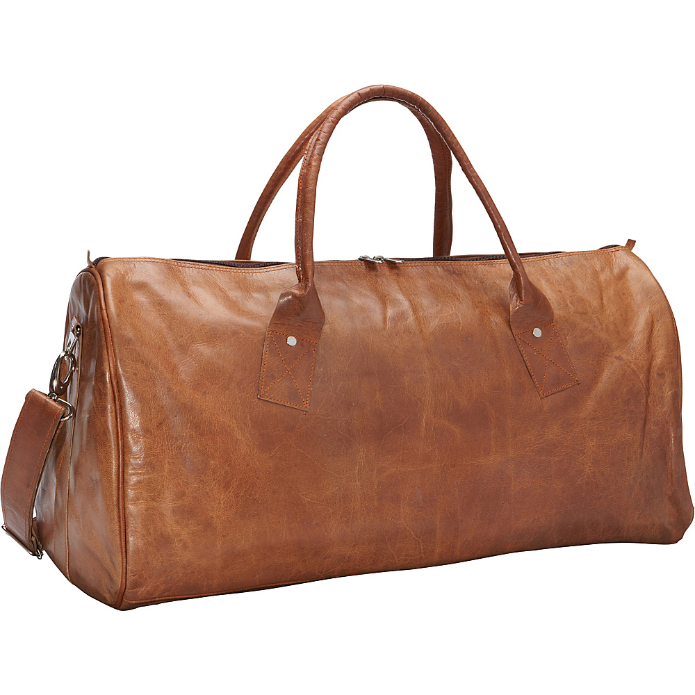 Sharo Leather Bags Leather Duffle Carry on Travel Bag Brown Sharo Leather Bags Travel Duffels