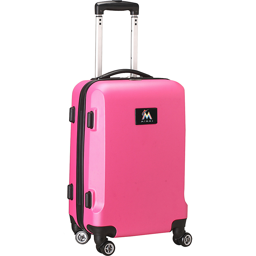 Denco Sports Luggage MLB 20 Domestic Carry-On Pink Miami Marlins - Denco Sports Luggage Hardside Carry-On - Luggage, Hardside Carry-On