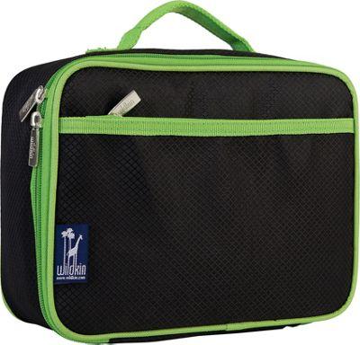 Wildkin Rip-Stop Black/Green Lunch Box Rip-Stop Black - Wildkin Travel Coolers