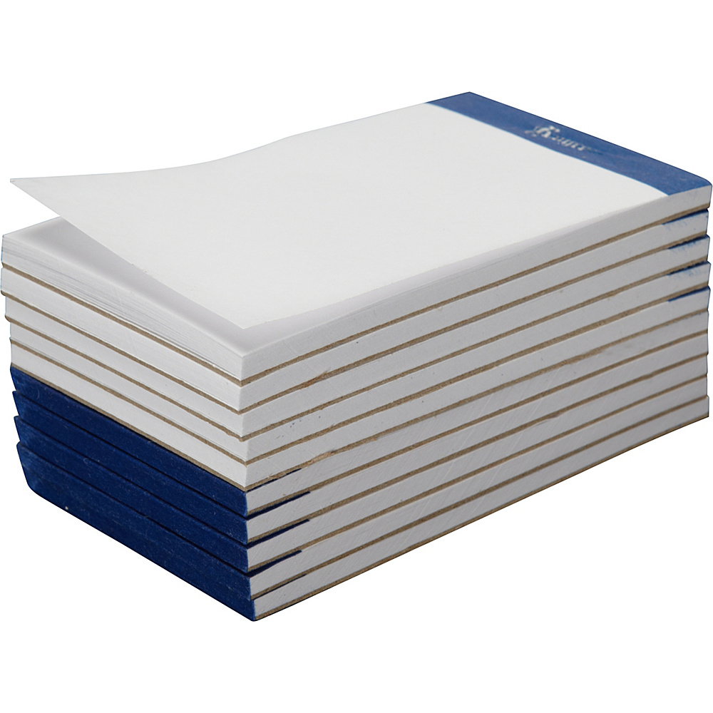 Royce Leather Replacement Pack of 10 Plain Pads for Royce Leather Note Jotters White - Royce Leather Business Accessories - Work Bags & Briefcases, Business Accessories
