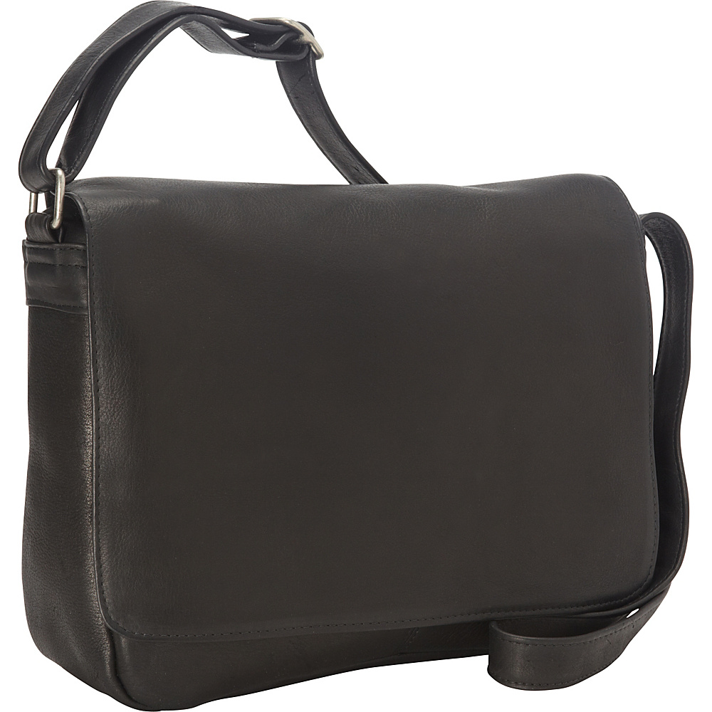 "Royce Leather Vaquetta Shoulder Bag With Flap Black 36"" Royce Leather Leather Handbags"