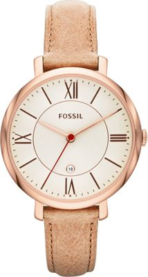 Fossil Jacqueline Three-Hand Leather Watch Light Brown - Fossil Watches