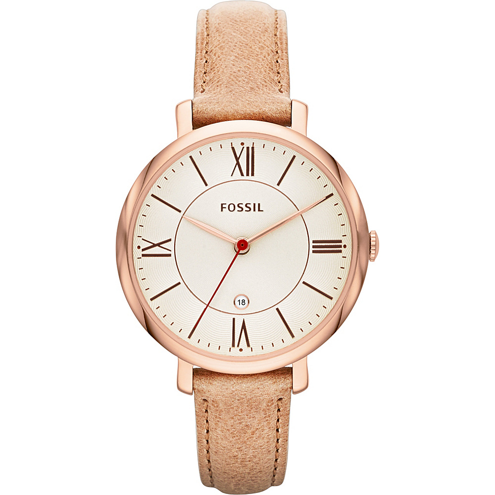 Fossil Jacqueline Three-Hand Leather Watch Light Brown - Fossil Watches - Fashion Accessories, Watches