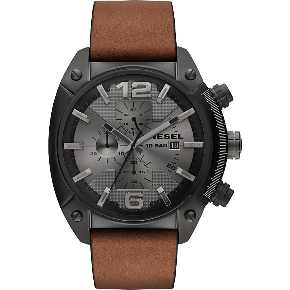 Diesel Watches Overflow Men's Watch Black/Light Brown - Diesel Watches Watches