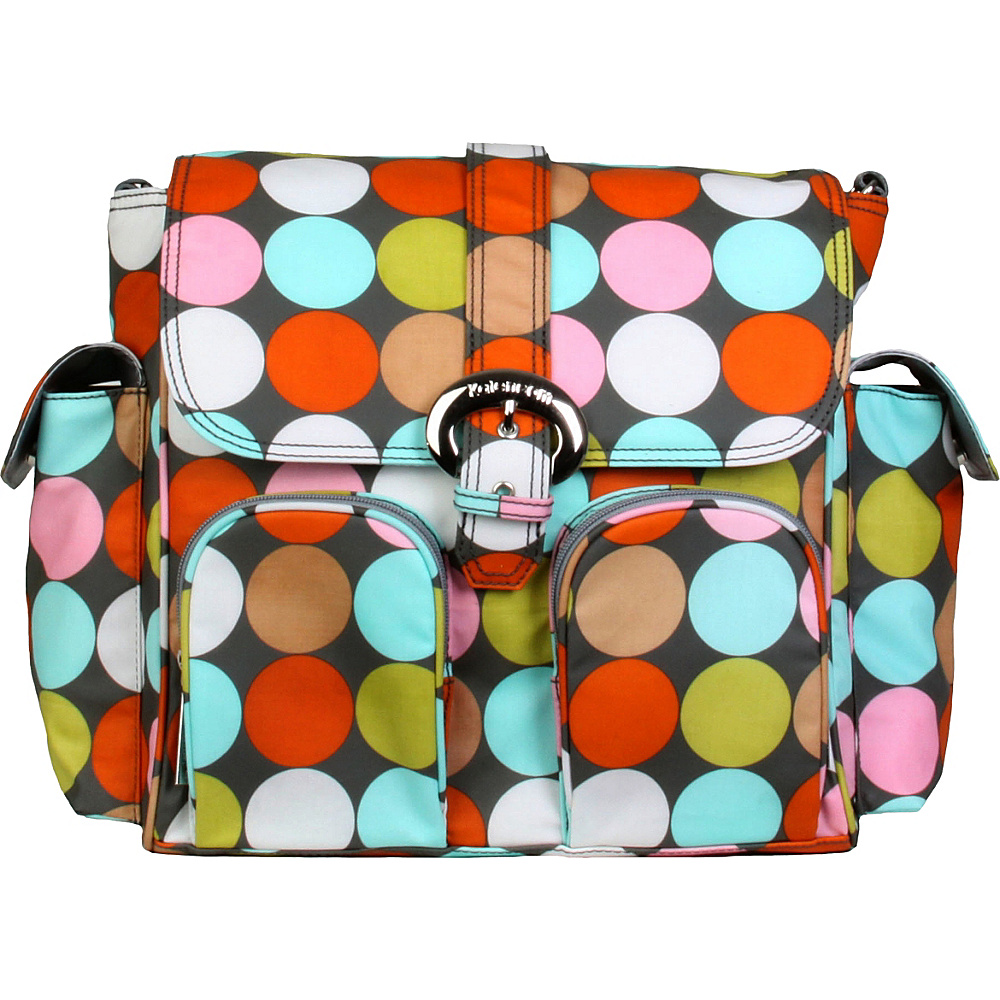 Kalencom Matte Coated Double Duty Diaper Backpack Spa Dots - Kalencom Diaper Bags & Accessories
