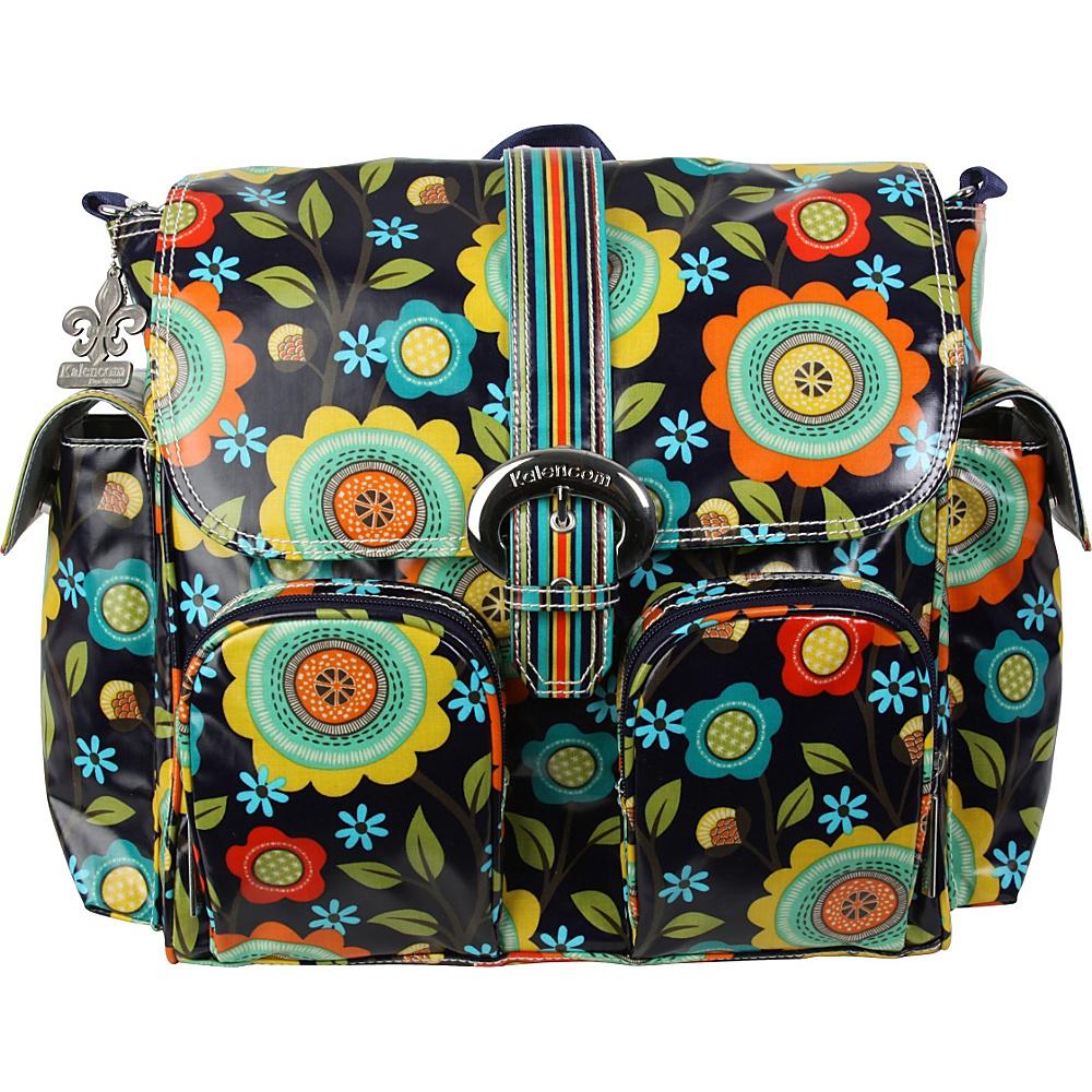 Kalencom Matte Coated Double Duty Diaper Backpack Floral Stitches - Kalencom Diaper Bags & Accessories