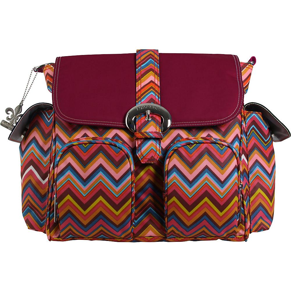 Kalencom Matte Coated Double Duty Diaper Backpack Zig Zag - Multicolor - Kalencom Diaper Bags & Accessories