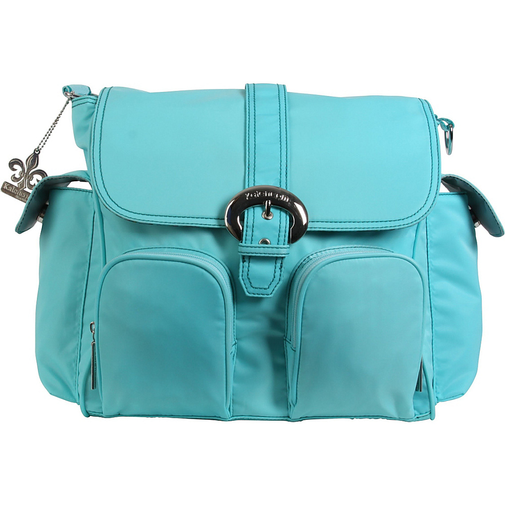 Kalencom Matte Coated Double Duty Diaper Backpack Aqua - Kalencom Diaper Bags & Accessories