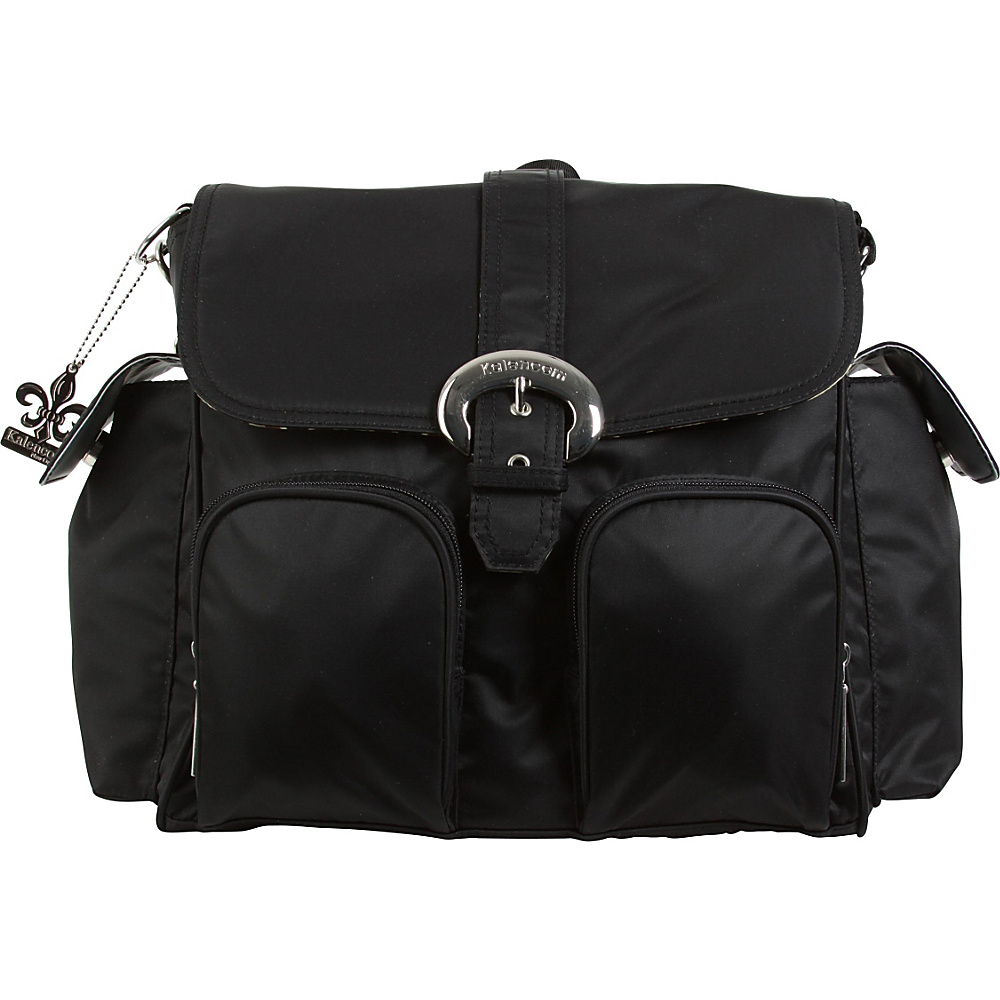 Kalencom Matte Coated Double Duty Diaper Backpack Black - Kalencom Diaper Bags & Accessories