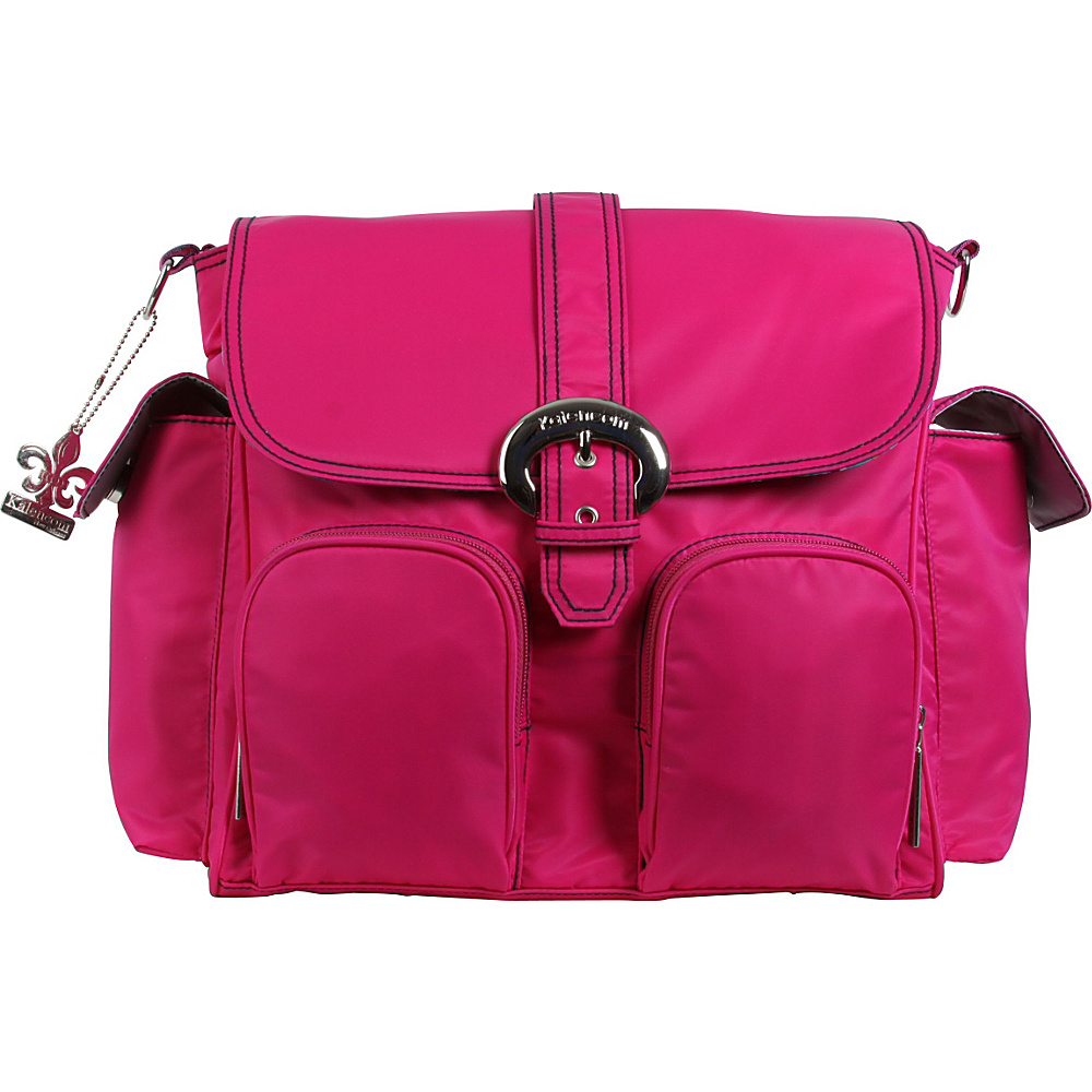 Kalencom Matte Coated Double Duty Diaper Backpack Fuchsia - Kalencom Diaper Bags & Accessories