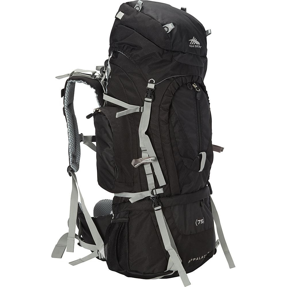 High Sierra Appalachian 75 Black Black Silver High Sierra Day Hiking Backpacks