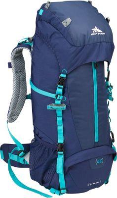 High Sierra Women's Summit 40 Backpacking Pack True Navy/True Navy/Tropic Teal - High Sierra Backpacking Packs