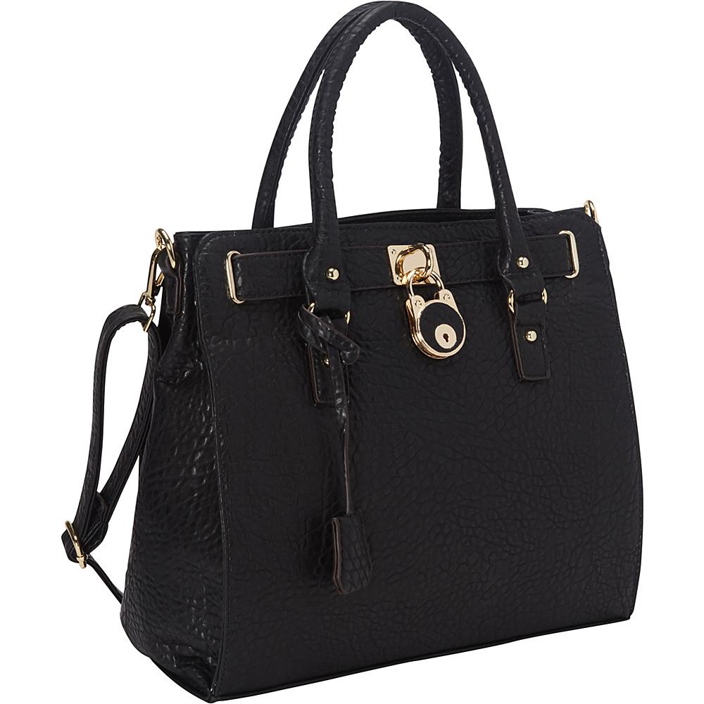 Ann Creek Moderna Satchel Black Ann Creek Manmade Handbags