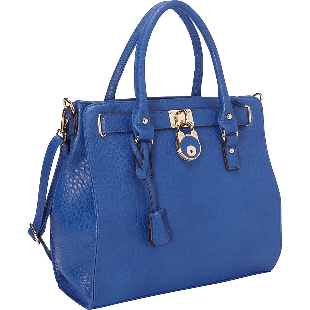 Ann Creek Moderna Satchel Blue Ann Creek Manmade Handbags