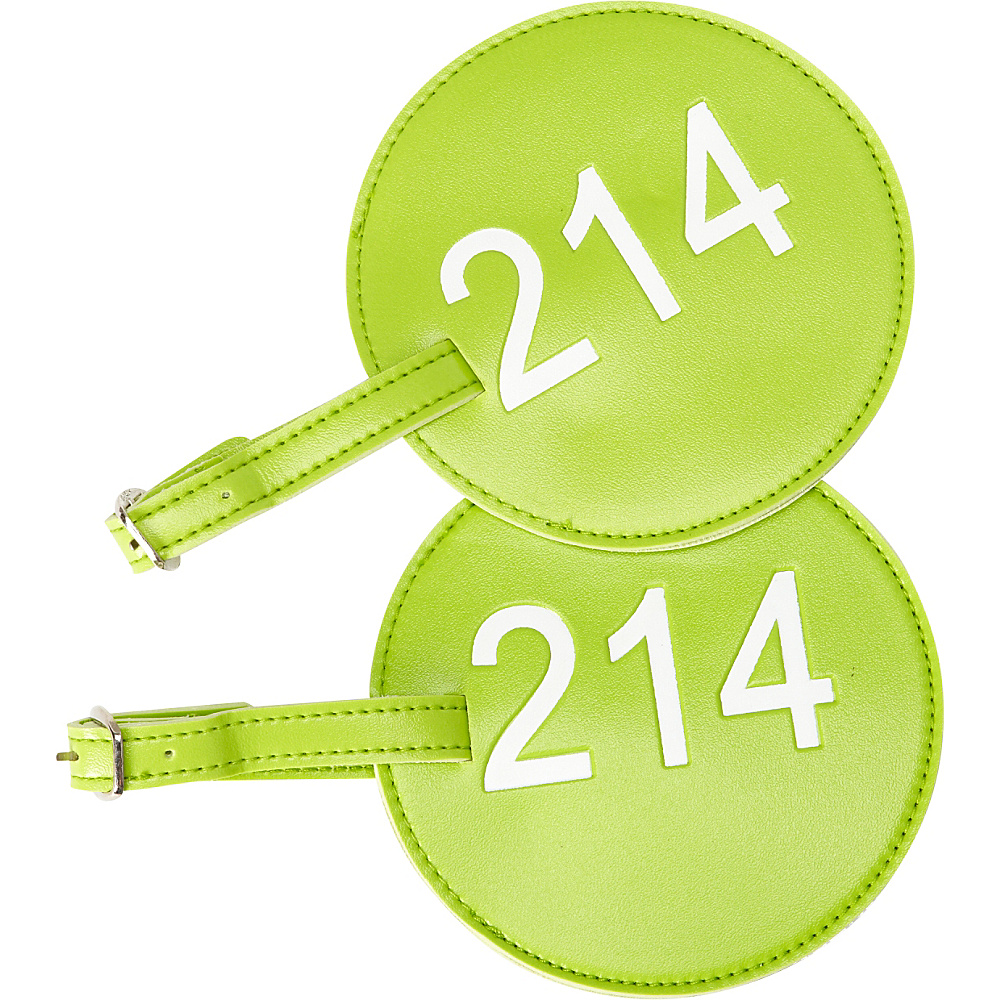 pb travel Number Luggage Tag 214 Set of 2 Green pb travel Luggage Accessories