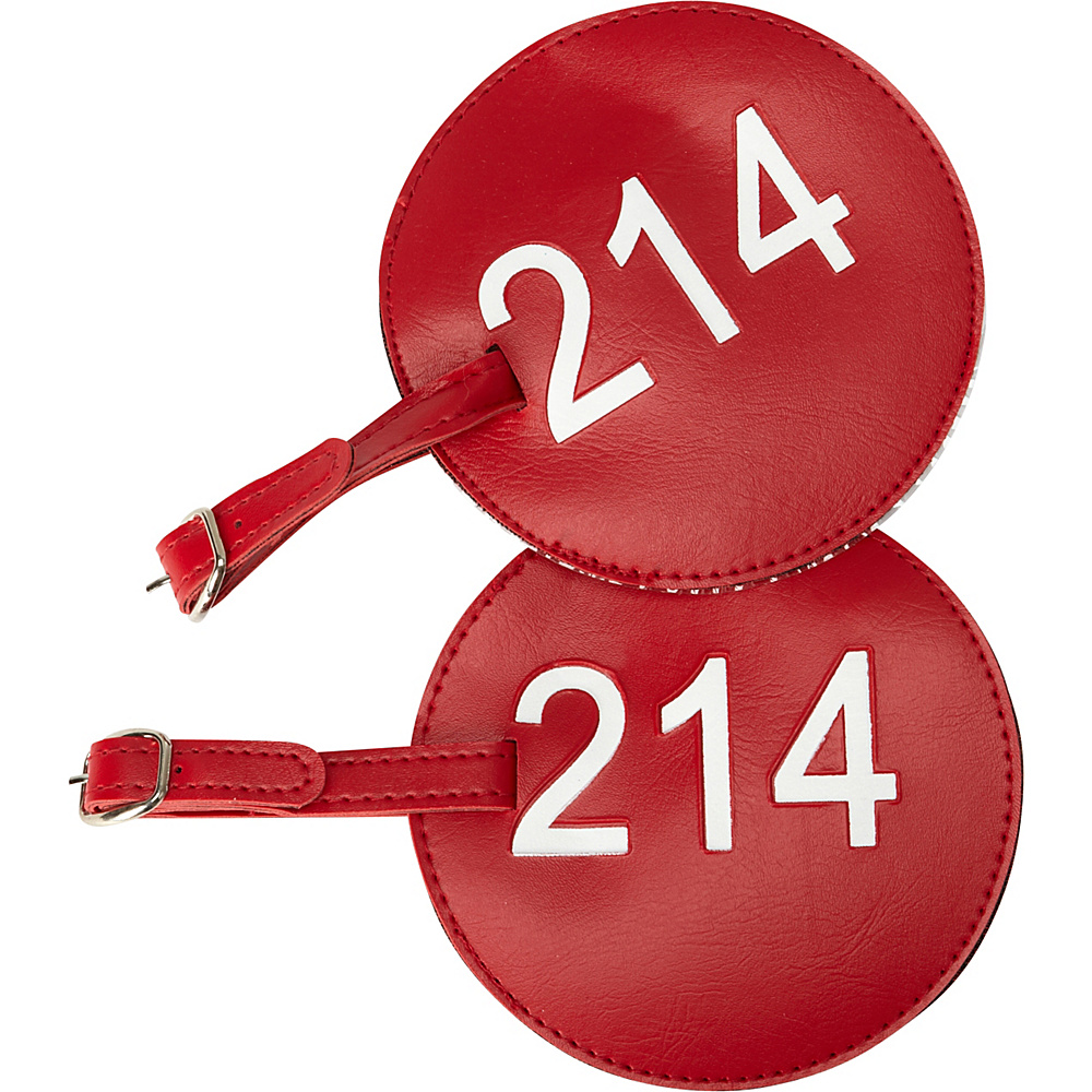 pb travel Number Luggage Tag 214 Set of 2 Red pb travel Luggage Accessories