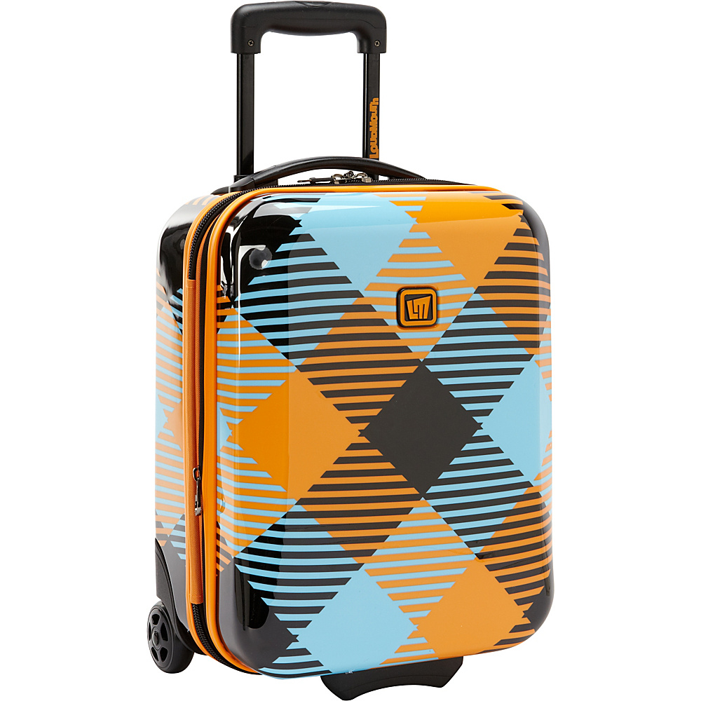 "Loudmouth Microwave 18"" Under-The-Seat Expandable Rolling Luggage Multi-Color - Loudmouth Hardside Luggage"