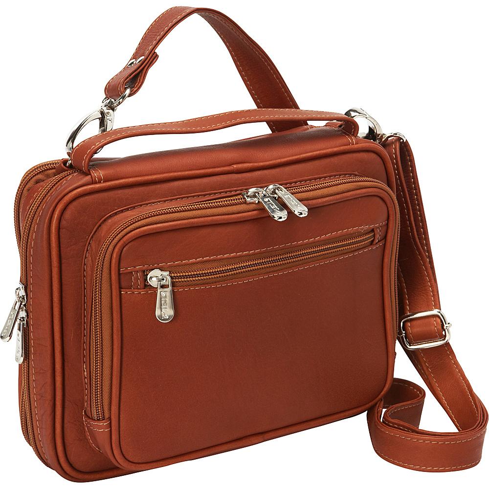 Piel Multi-Use Cross Body Carry-All Saddle - Piel Leather Handbags - Handbags, Leather Handbags