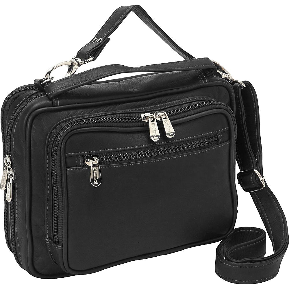 Piel Multi-Use Cross Body Carry-All Black - Piel Leather Handbags - Handbags, Leather Handbags