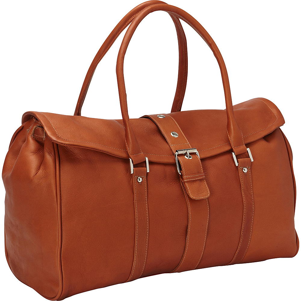 Piel Buckle Flap-Over Duffel Bag Saddle - Piel Rolling Duffels