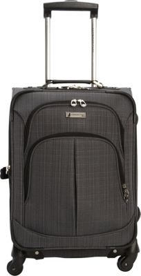 London Fog Chatham 20 inch Spinner Carry-on Grey - London Fog Softside Carry-On