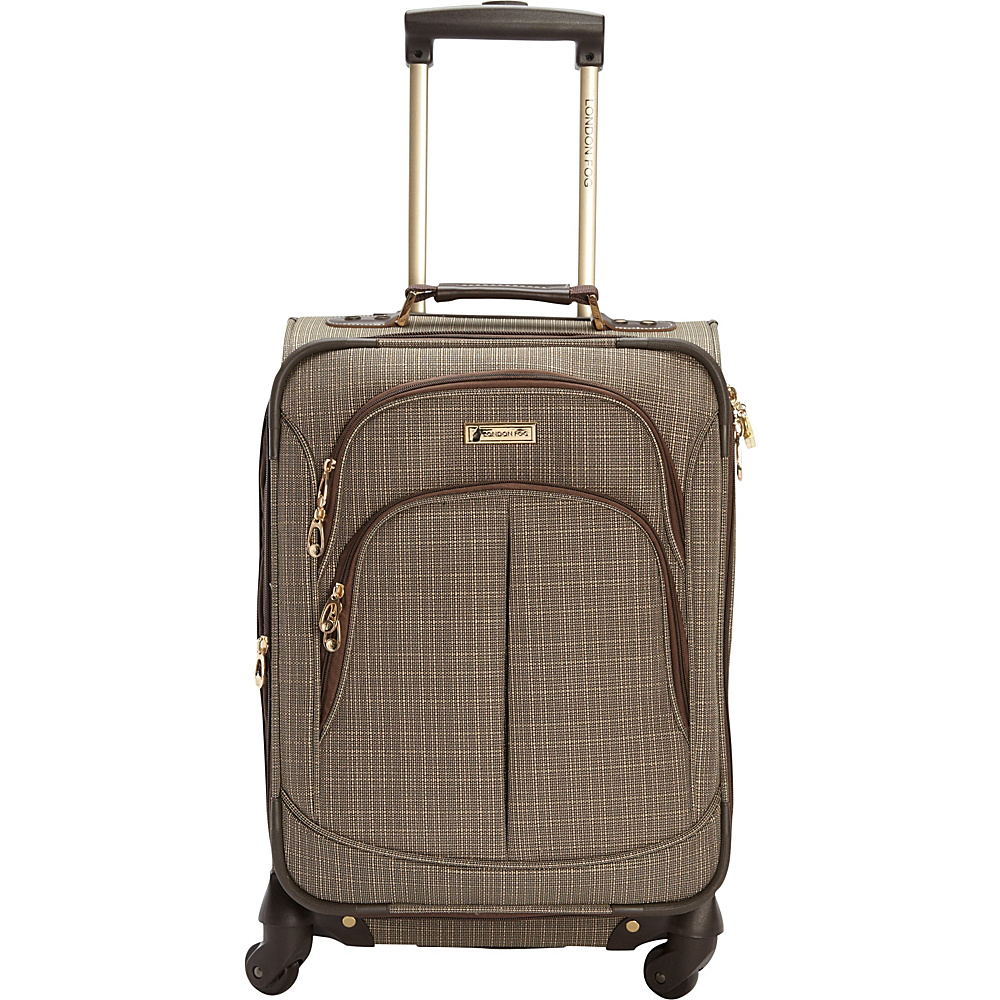 "London Fog Chatham 20"" Spinner Carry-on Tan - London Fog Softside Carry-On"