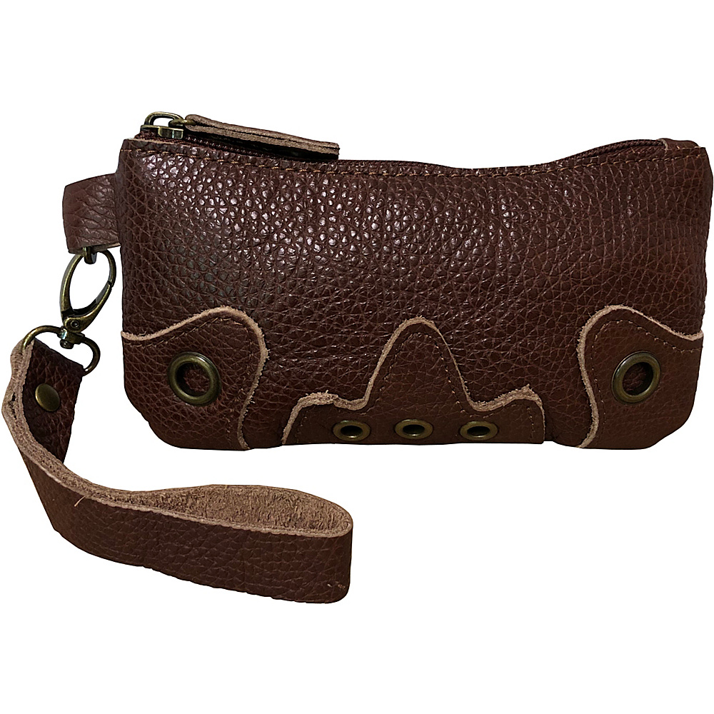 AmeriLeather Orka Wristlet Purse Waxy Brown - AmeriLeather Leather Handbags - Handbags, Leather Handbags