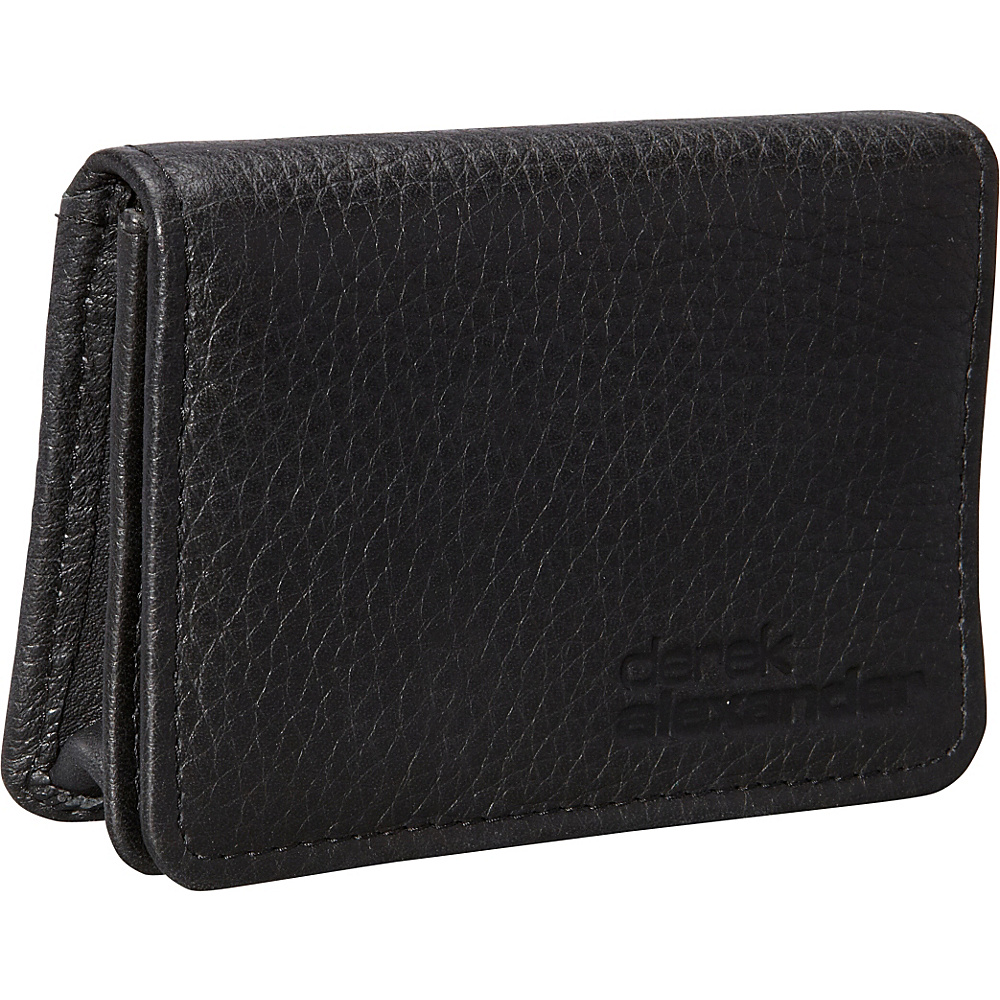 Derek Alexander Business and Credit Card Holder Black - Derek Alexander Mens Wallets - Work Bags & Briefcases, Men's Wallets