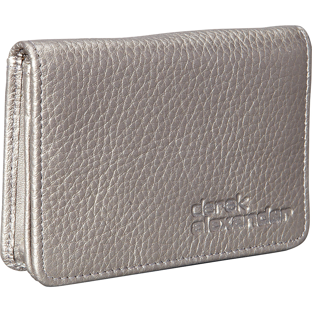 Derek Alexander Business and Credit Card Holder Silver - Derek Alexander Mens Wallets - Work Bags & Briefcases, Men's Wallets
