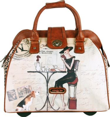 Nicole Lee Nicole Lee Cheri Rolling Business Tote - 18 inch Coffee - Nicole Lee Luggage Totes and Satchels