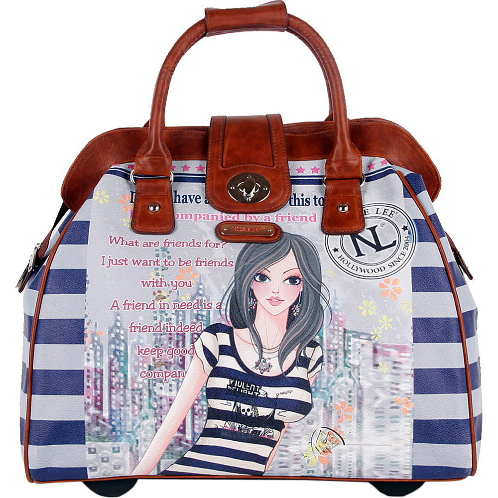Nicole Lee Cheri Rolling Tote Special Print Edition DOLLY Nicole Lee Luggage Totes and Satchels